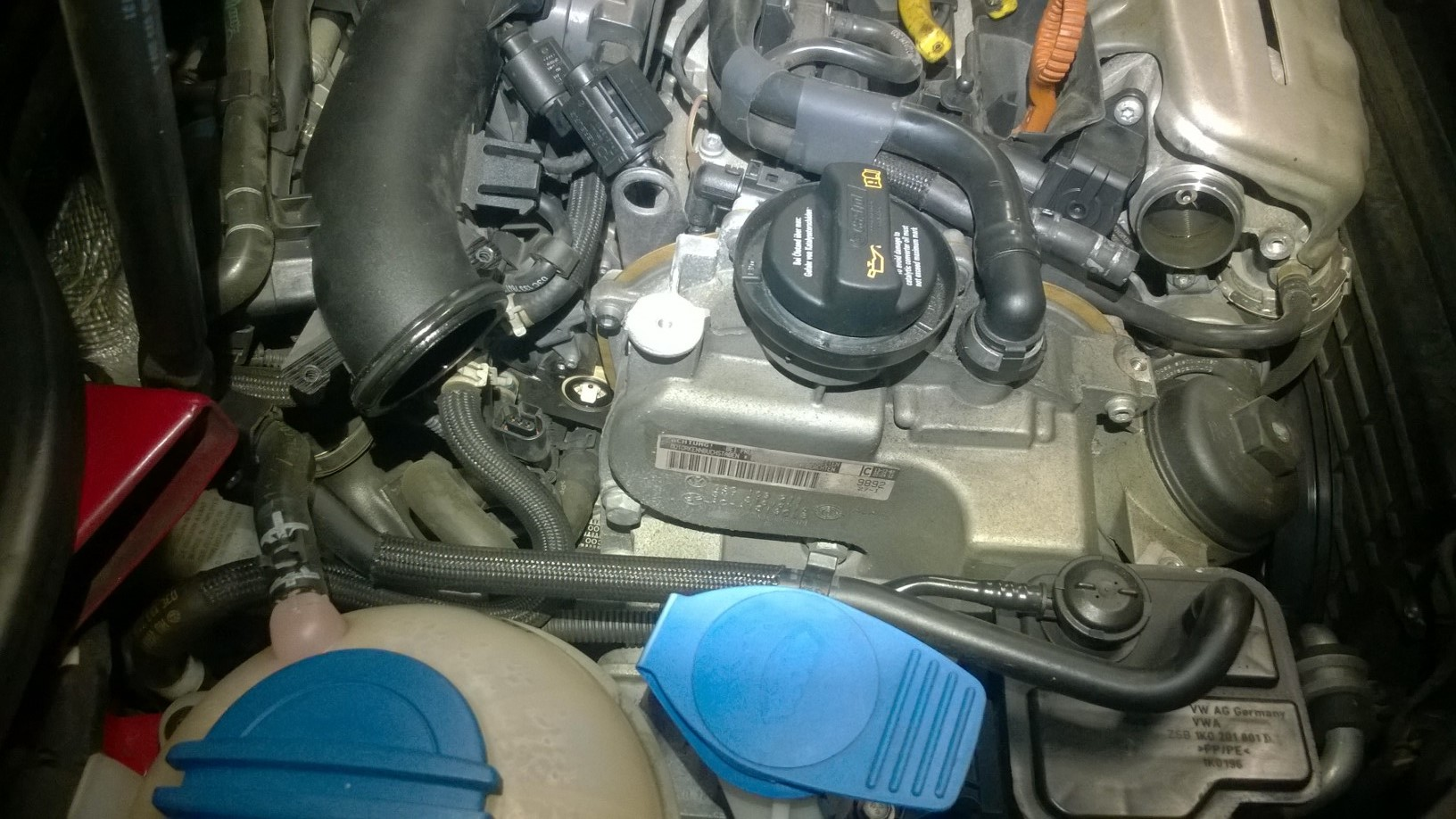 2008 VW golf intake flap sensor removed