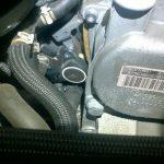 2008 VW golf intake flap sensor location
