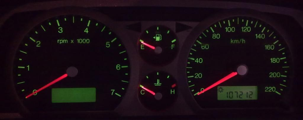 ba falcon p  light flashing auto faults p  motors