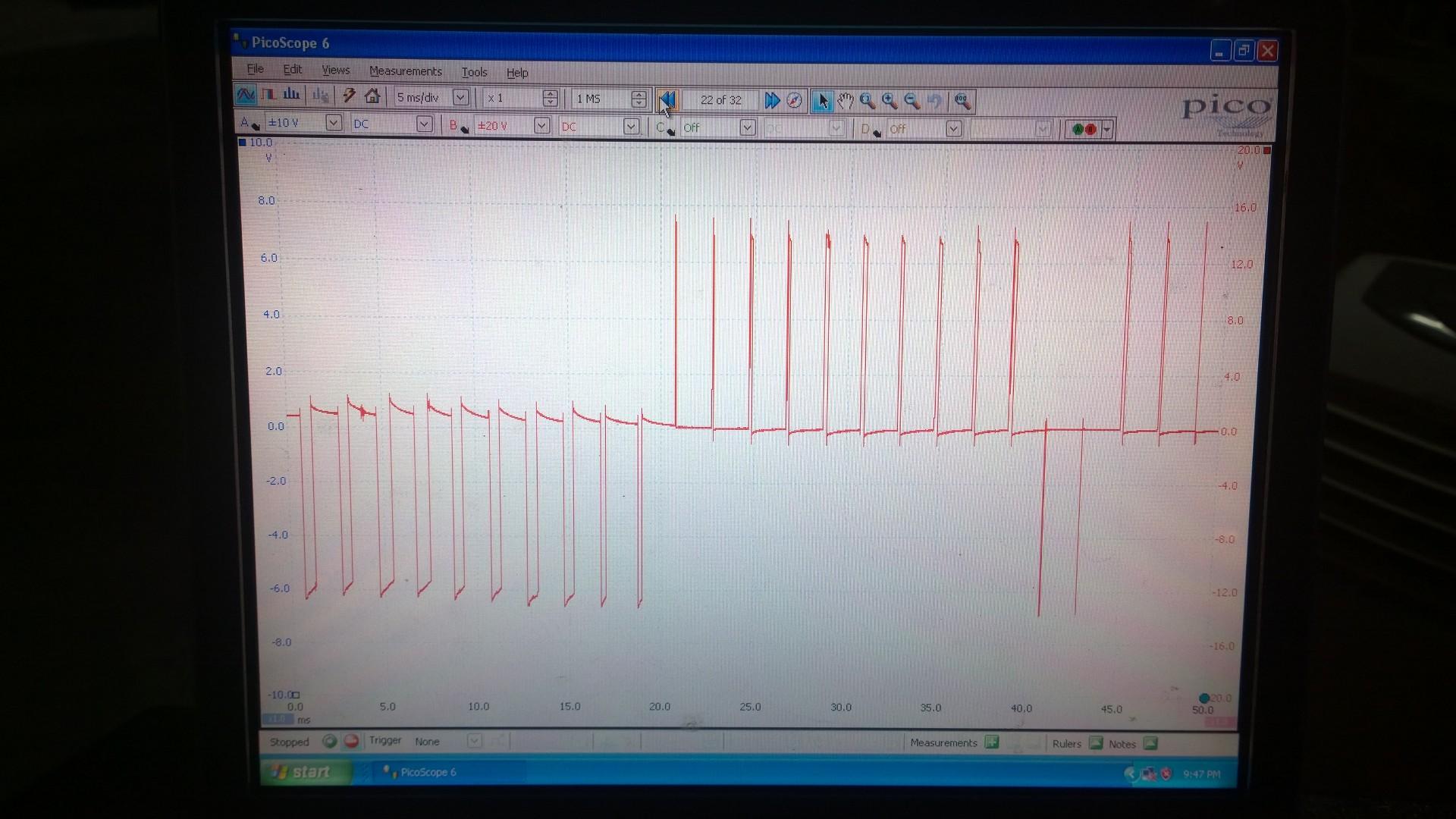 EGR control waveform from engine ecu