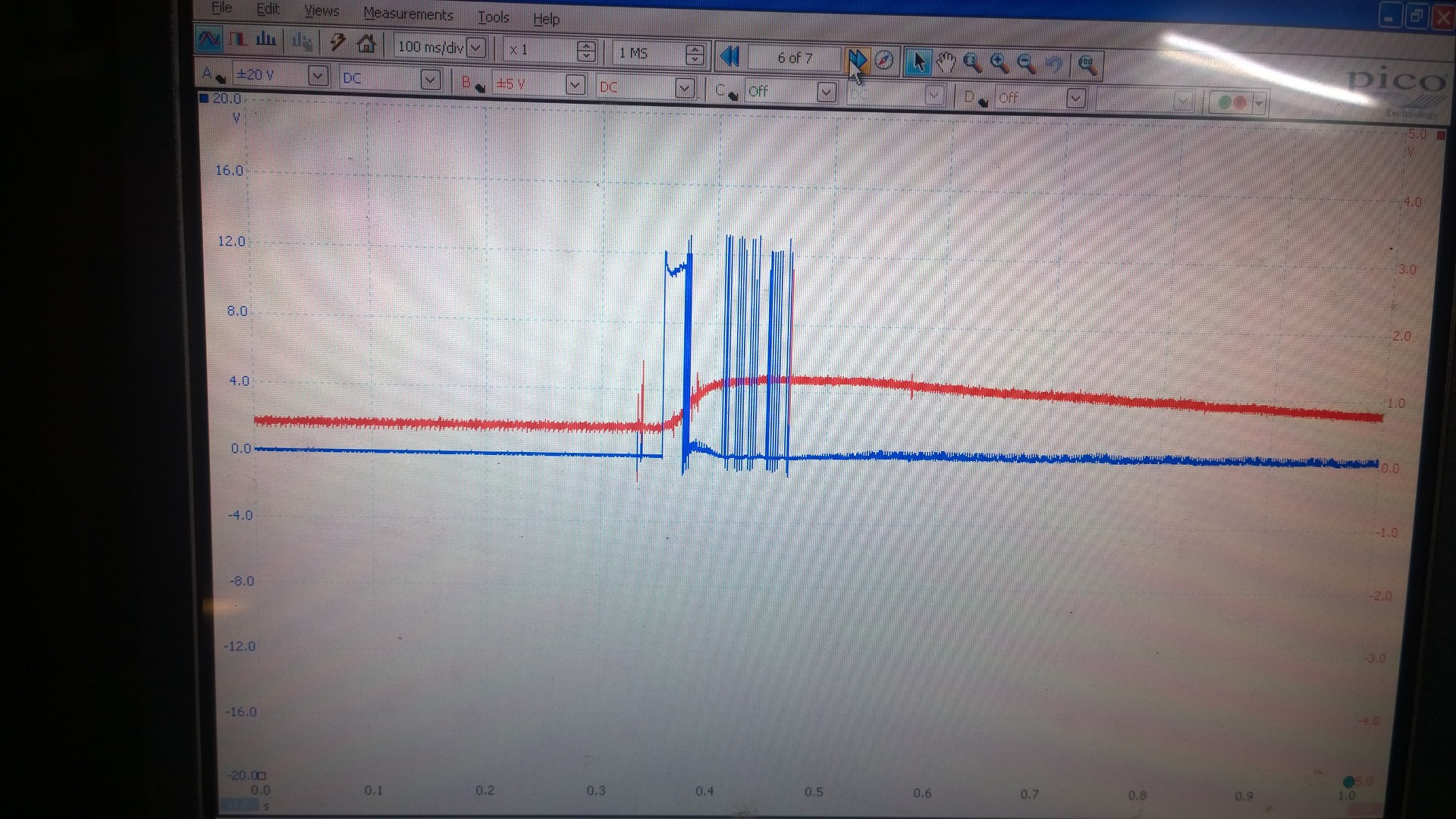 EGR control waveform from engine ecu with tps output from position sensor