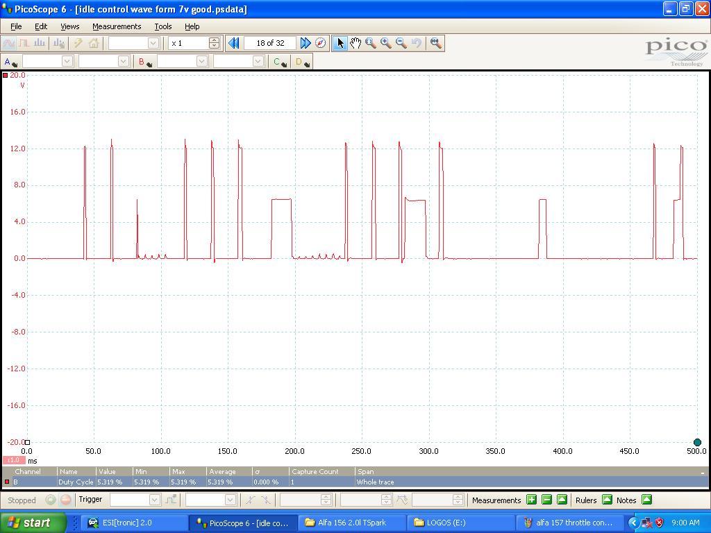 alfa 157 throttle control bad waveform